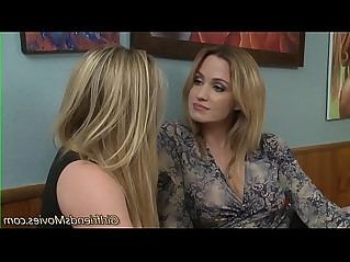 Blonde teen eats milf