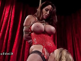 Huge round tits lesbian sub anal fucked