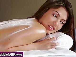 Lez babes massage seduction