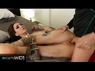 Skinny sexy tattoo girl gets fingered and fucked by a huge cock rocky emerson bts rawattack
