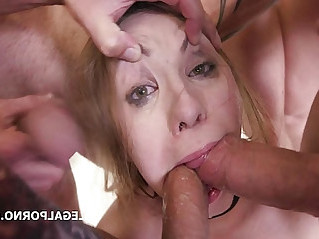 Double Anal GangBang Selvaggia, Sperma Party with swallows
