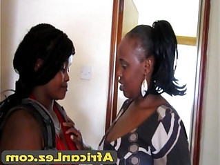 African lesbian gets very naughty in bathroom