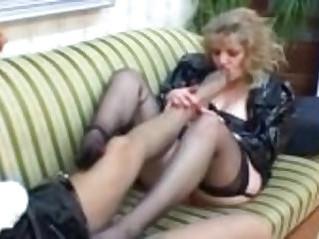 German lesbian MILFs on couch