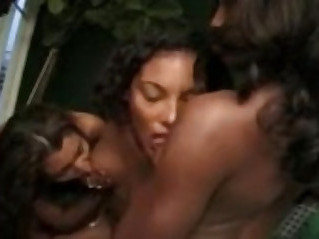Black lesbian toy action with passion