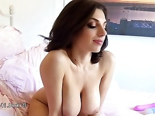 Huge tits lesbian with strap