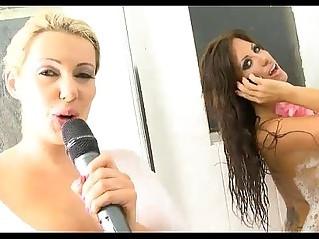 hot telephone TV sex babes showering