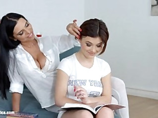 Lesson dreams by Sapphic Erotica sensual lesbian porn video with Kyra Queen a