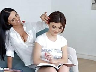 Lesson dreams by Sapphic Erotica sensual lesbian porn video with Kyra Queen a