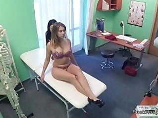 Lesbian nurse in sixtynine oral sex