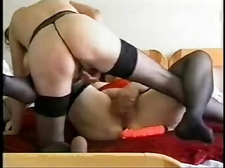 Horny lesbian grannies having fun. Real amateur