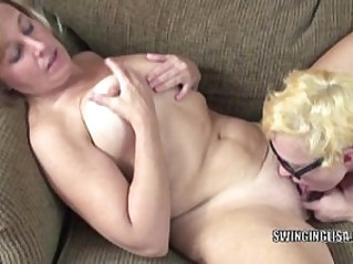Mature slut Liisa gets ass fucked by horny lesbian Shelly
