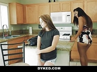 Dyked Lesbian Teens Fuck Each Other