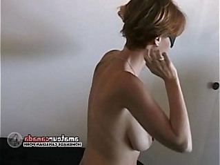 Hairy busty amateur wife wears submissive collar